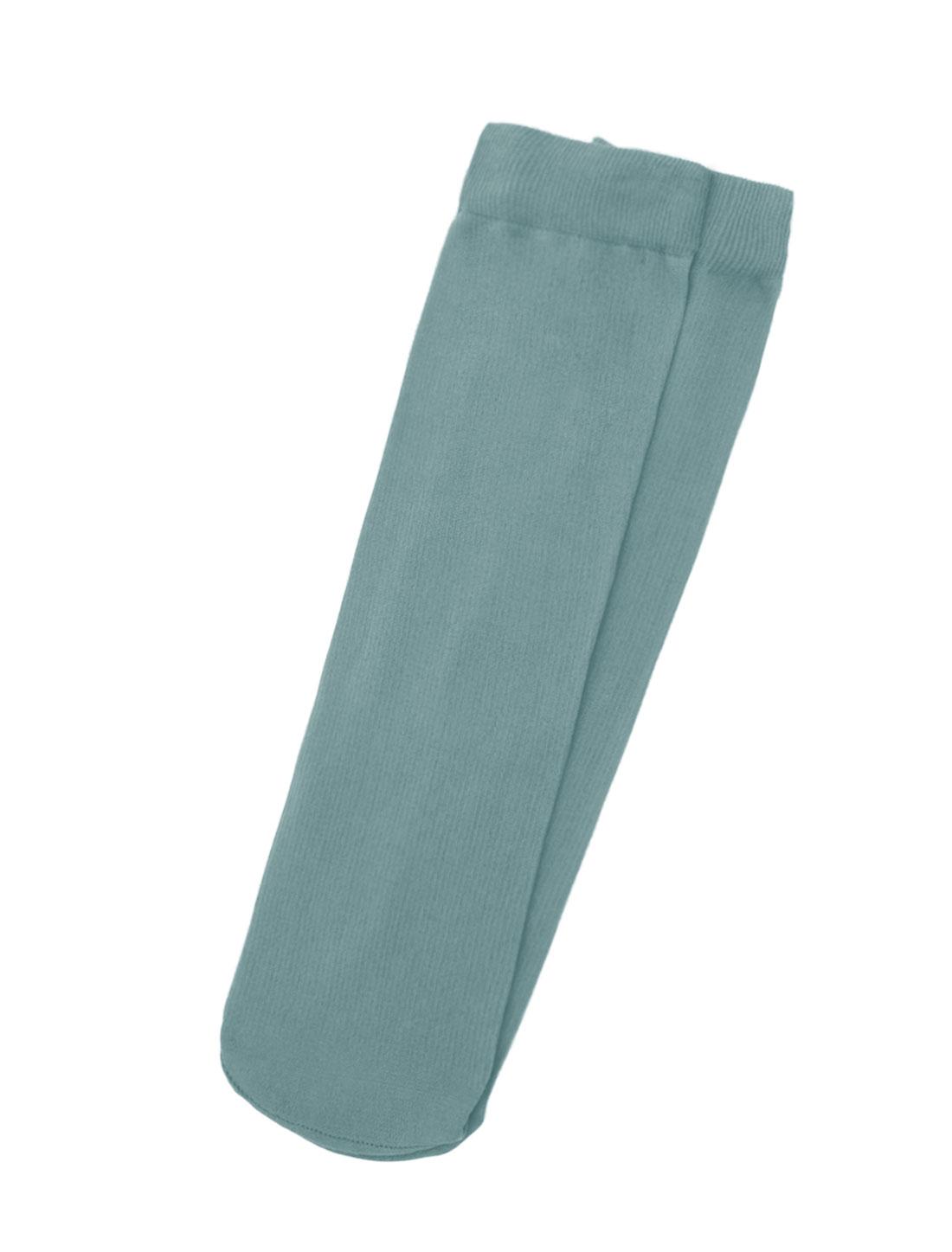 Men Elastic Cuffs Ribbed Stretchy Sheer Crew Socks 10 Pairs Gray