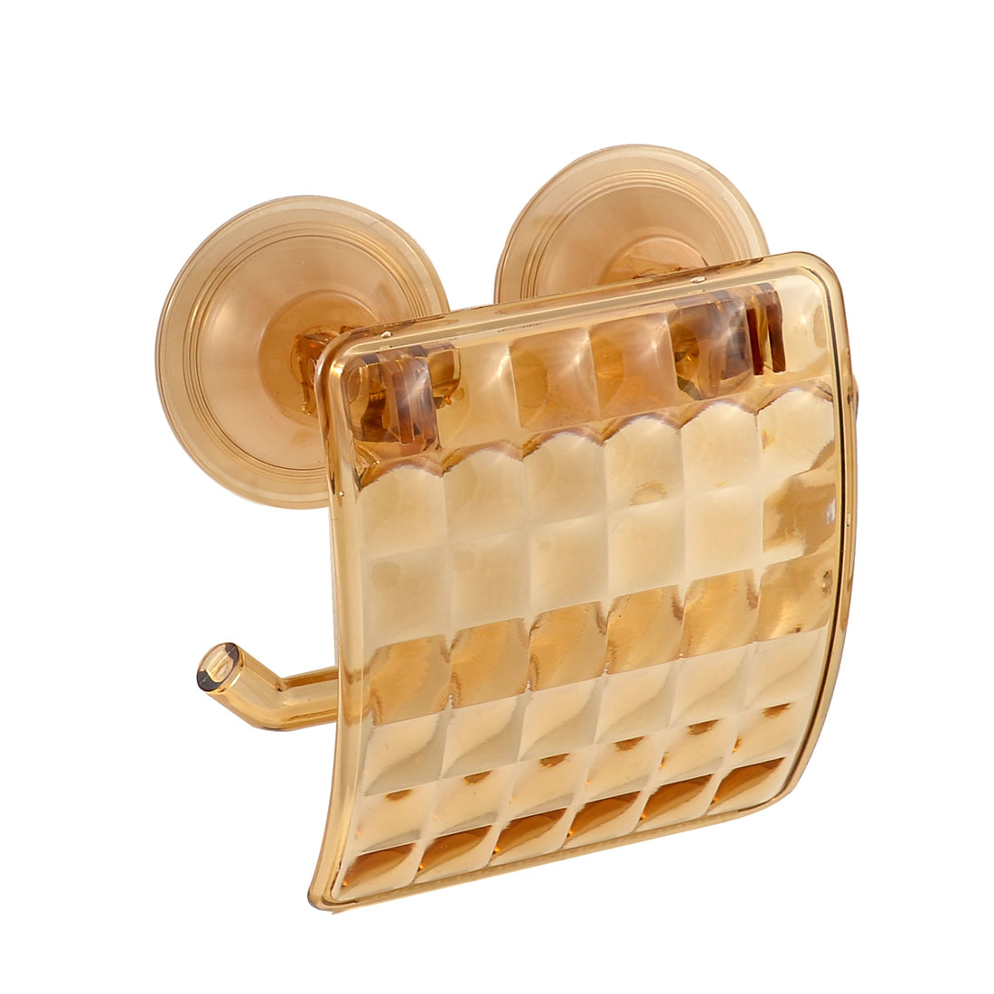 Bathroom Shower Suction Cup Toilet Paper Tissue Hanger Holder Amber Color
