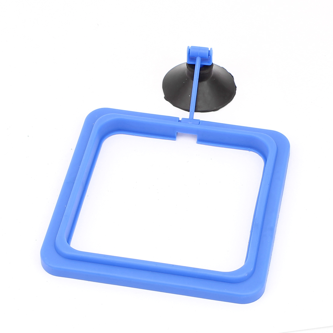 Adjustable Suction Cup Aquarium Fish Tank Food Feeder Feeding Ring Black Blue