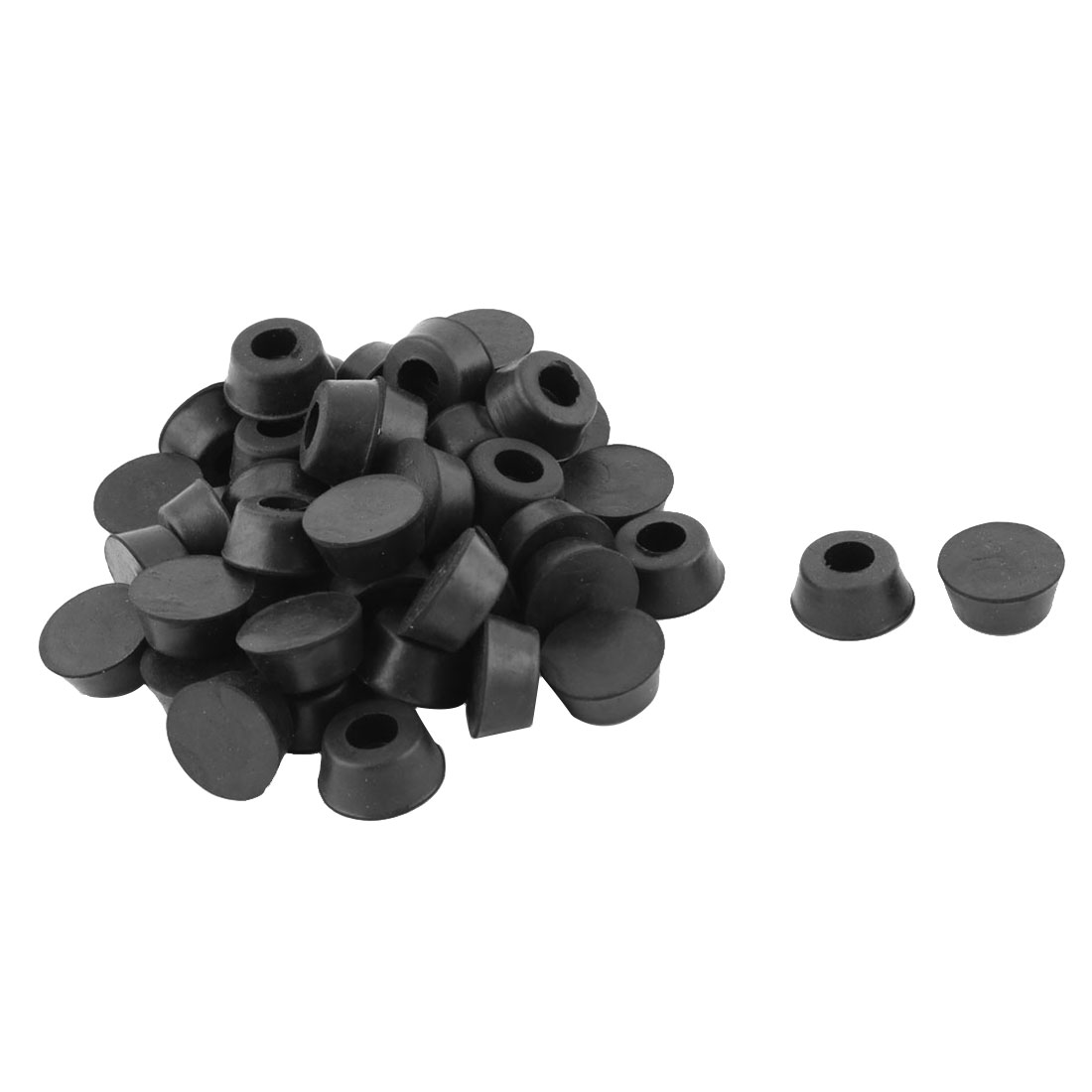 Household Rubber Furniture Table Leg Tip Foot Protector Pad Cover Black 45pcs