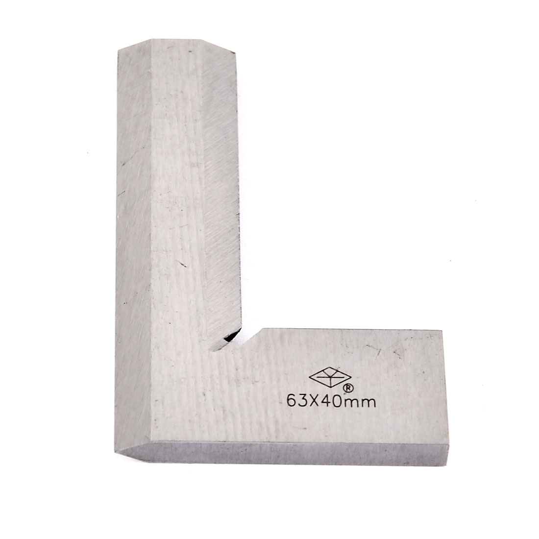 63mm x 40mm Scale Metal L Shaped 90 Degree Angle Try Square Ruler