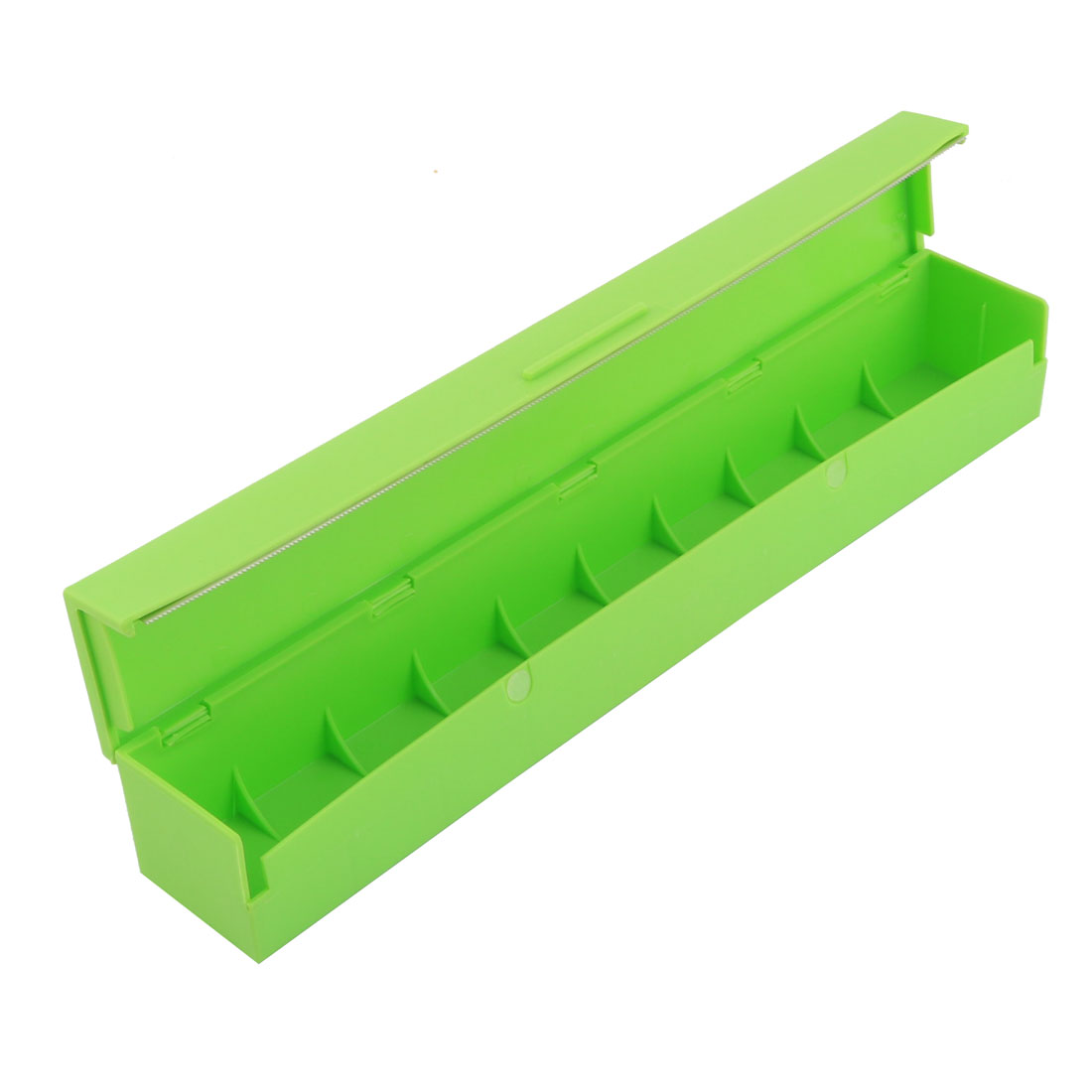 Household Kitchen Plastic Food Wrap Fresh-keeping Film Paper Dispenser Cutter Green