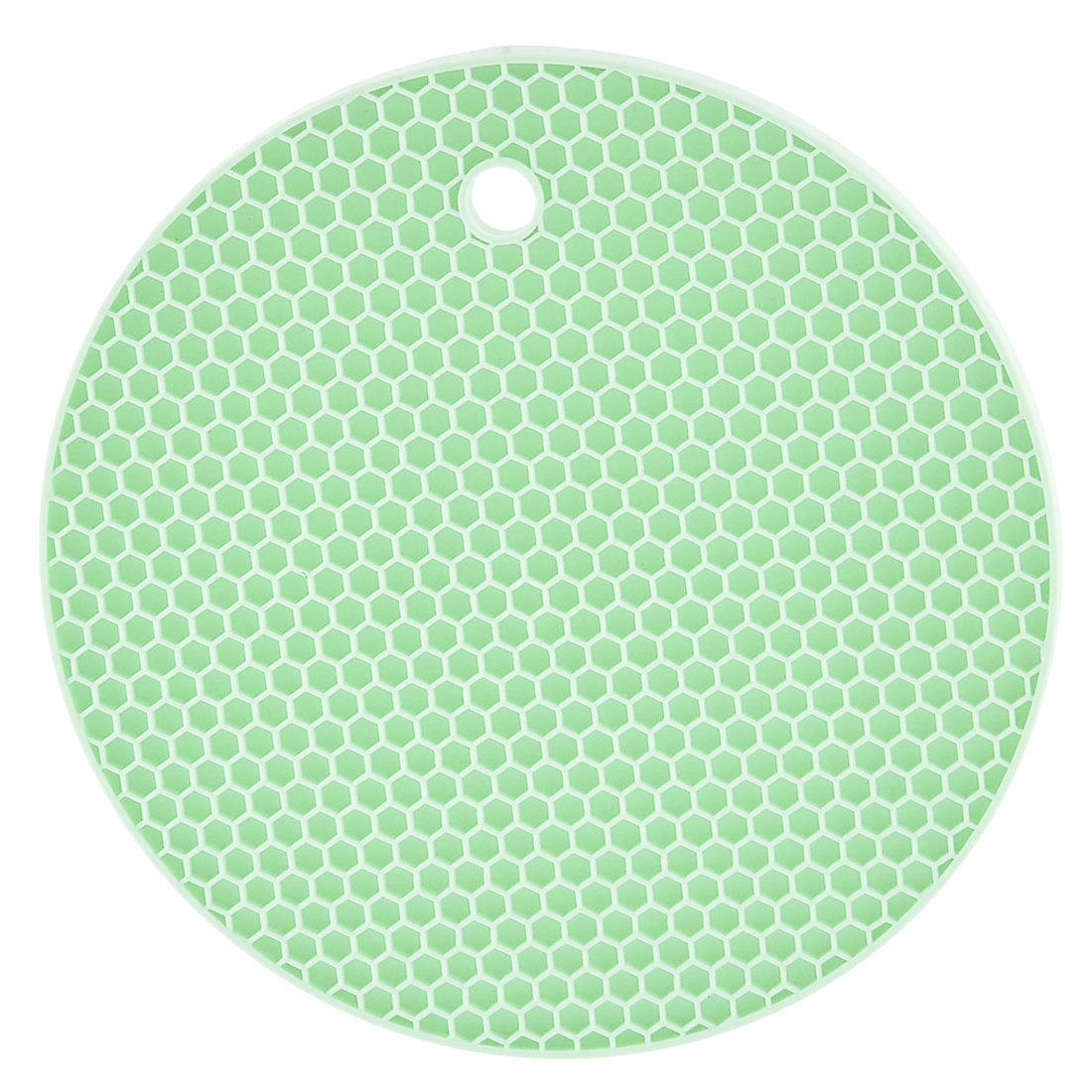 Household Round Shaped Nonslip Heat Insulated Hot Pot Mat Pad Holder Cyan