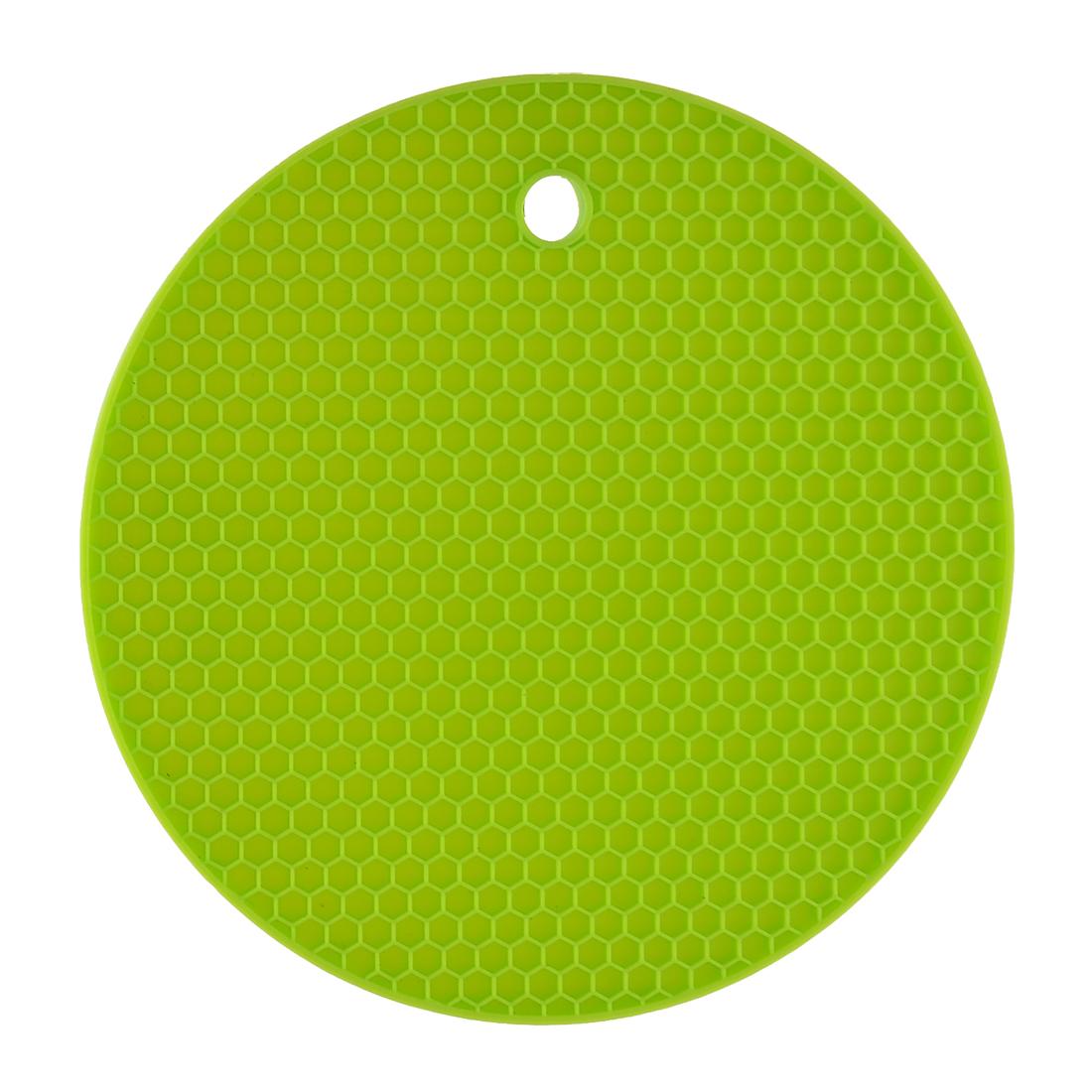 Kitchen Hot Pot Pan Trivet Nonslip Heat Insulated Placemat Pad Holder Green