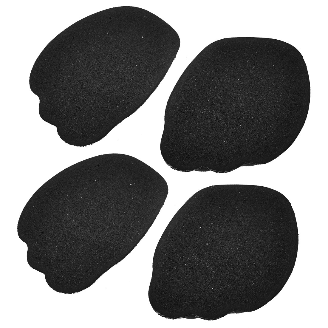 Lady Heels Forefoot Front Half Insoles Shoes Pads Cushions Black 2 Pairs