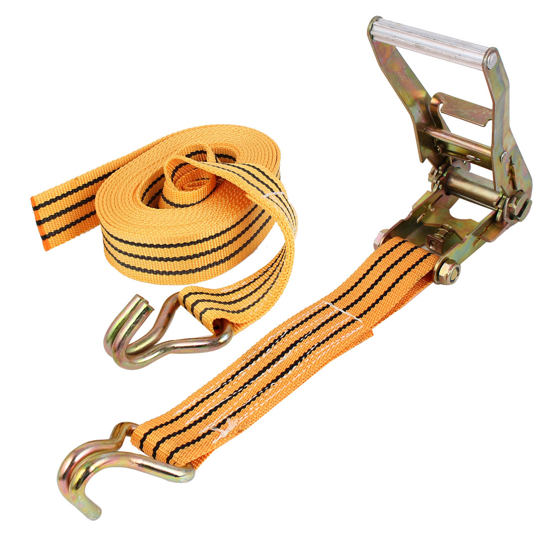 Luggage Binding Double Hooks 5000kg Breaking Strength Ratchet Tie Down Strap 6M