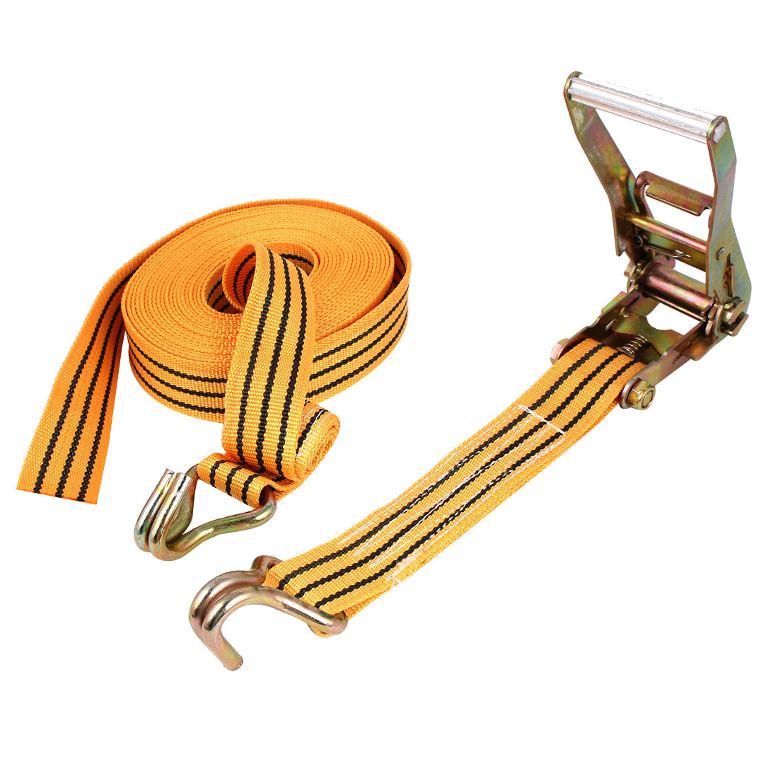 Truck Car Luggage Binding Double J Hooks Ratchet Tie Down Strap 10M