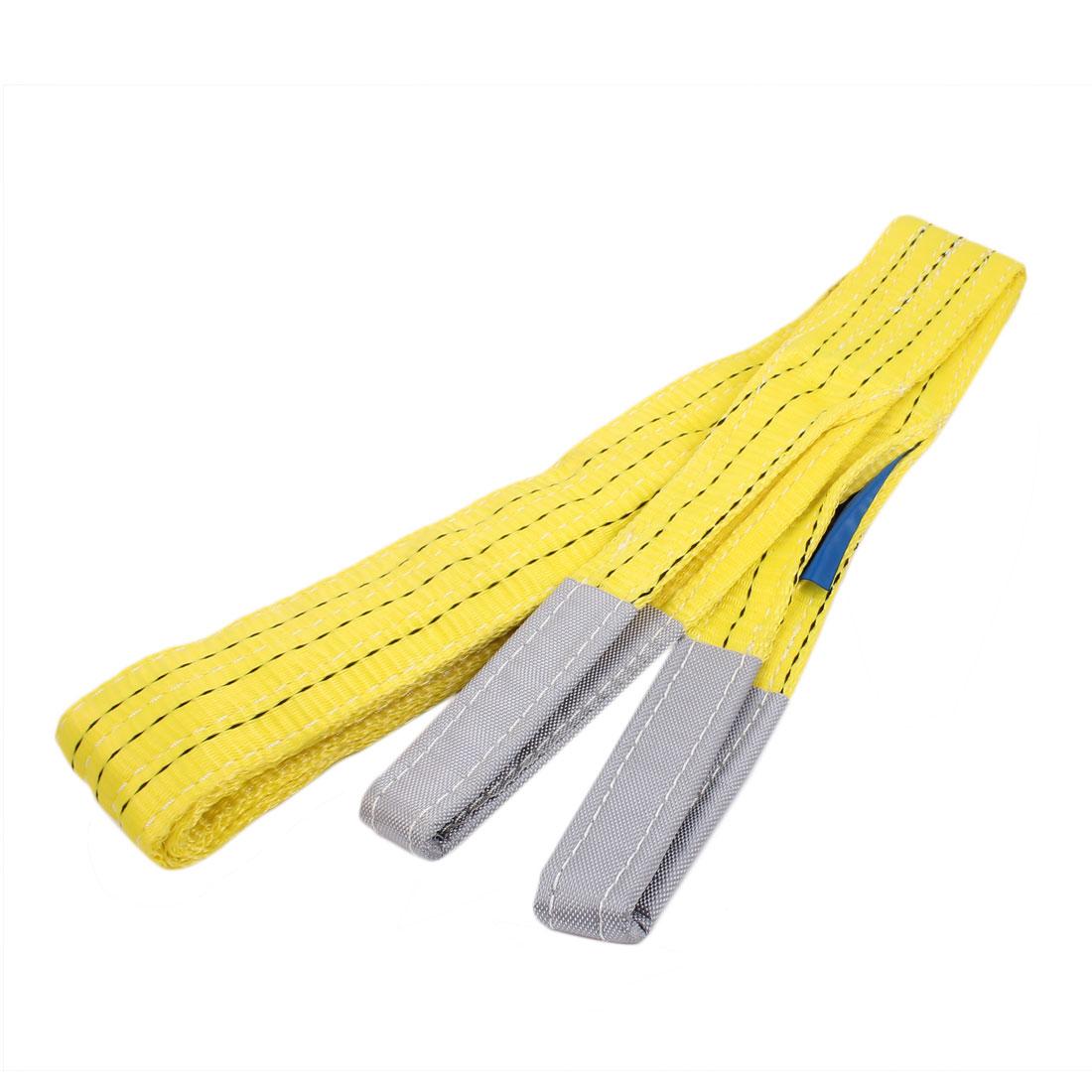 3 Meters Length 3T Straight Capacity Nylon Web Sling Lifting Tow Strap Yellow