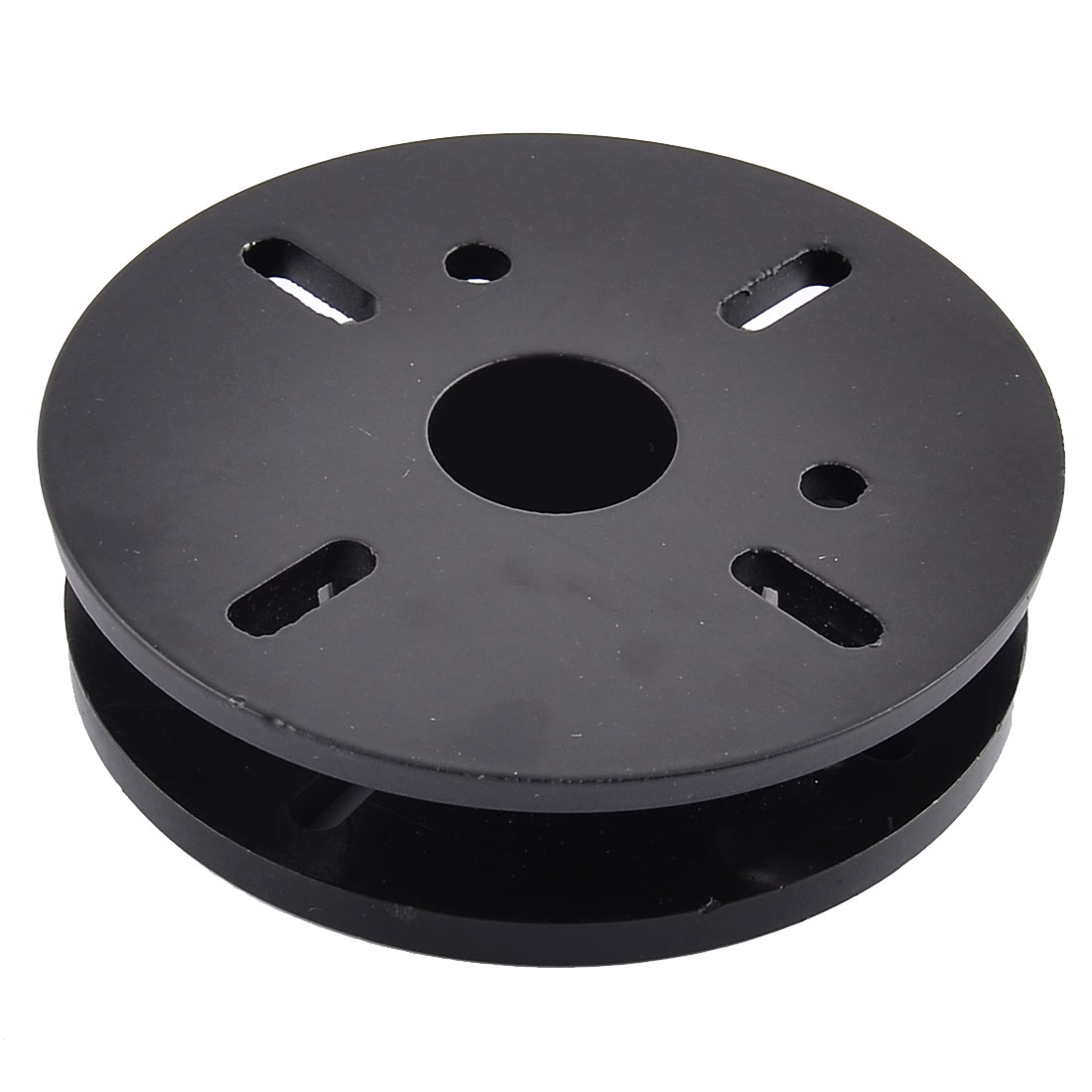 Round Shaped Video Aluminium Spacer Kit Increased Pad Black 10.2cm Dia 2.6cm Height