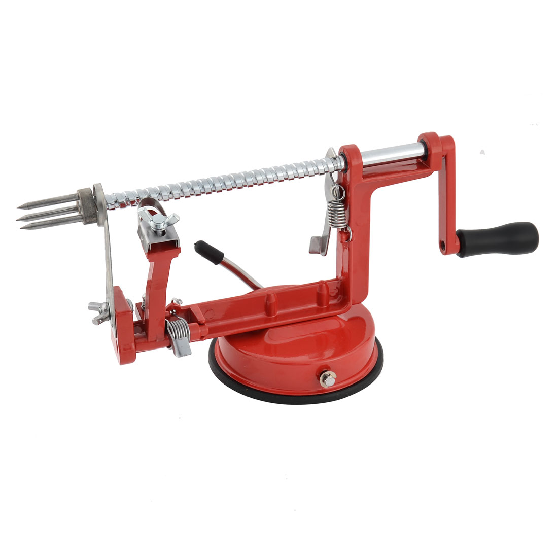 Home Kitchen Metal Apple Pear Fruit Vegetable Potato Peeler Corer Slicer Red
