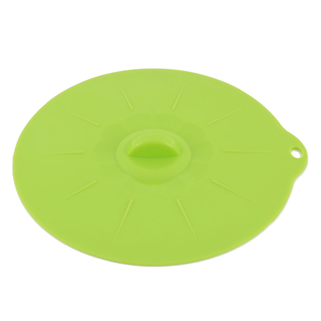 Home Kitchen Silicone Food Refrigeration Microwave Heating Storage Bowl Pan Container Lid Cap Cover Green