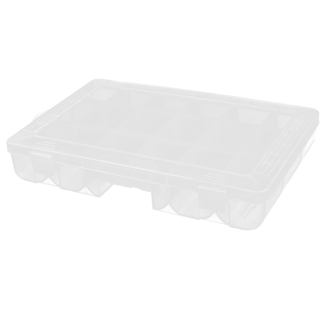 Household Jewelry Screws Plastic Storage Case Box Organizer Conatiner Clear
