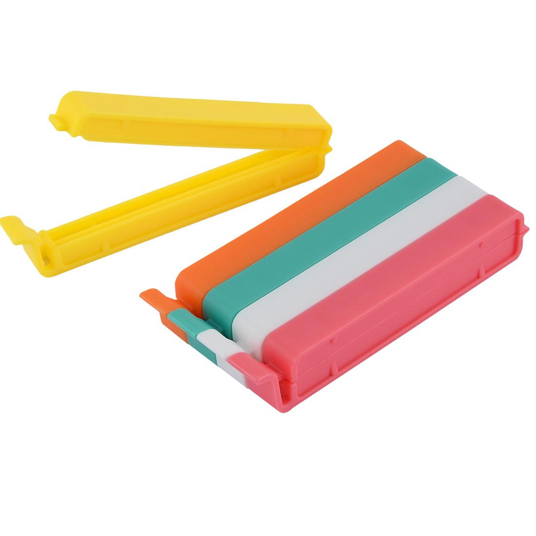 Home Kitchen Food Snacks Chips Plastic Bag Seal Sealing Clips Clamp Sealer 5pcs