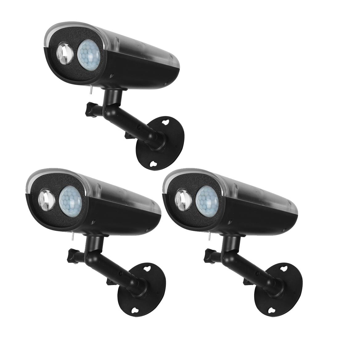 3 Pcs 3W Wireless Solar Motion Detect LED light Torch Outdoor Garden Lamp Waterproof IP66
