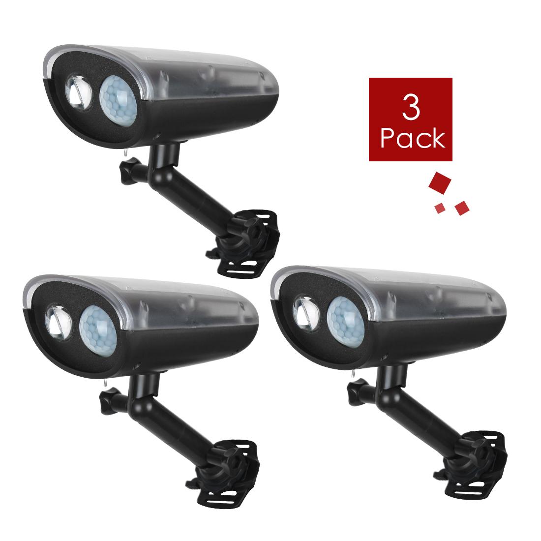 3 Pcs 3W Wireless Solar Motion Detect LED light Lighting Outdoor Garden Lamp Waterproof IP66