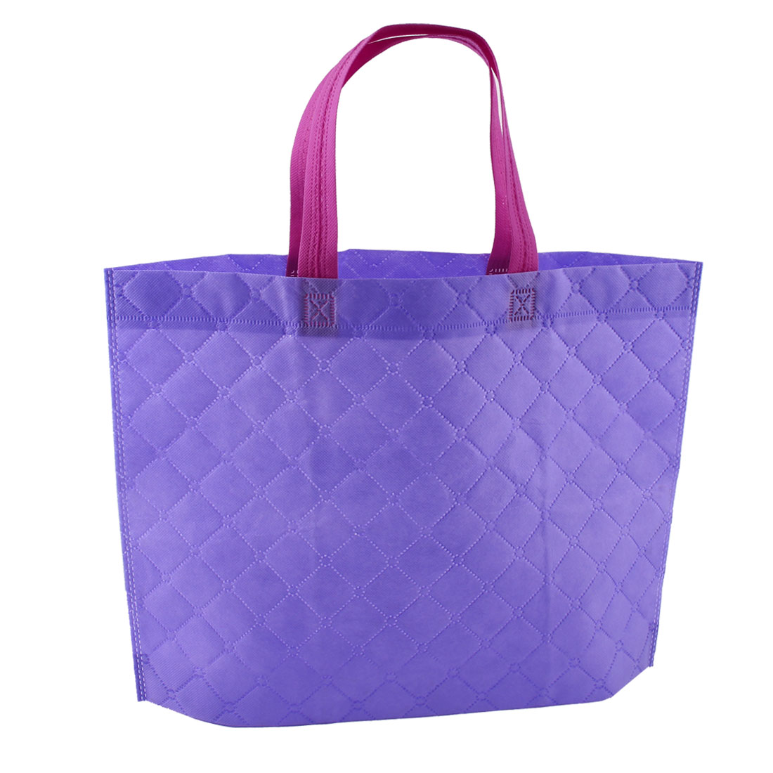 "16.9"" Length Non-Woven Recyclable Friendly Purple Shopping Bag for Saving Resources"