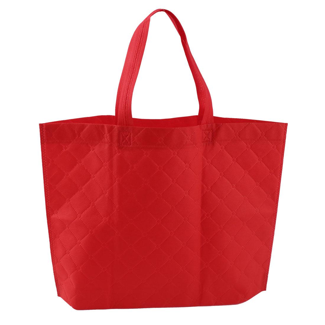 """16.9"""" Length Non-Woven Environmentally Red Shopping Bag for Saving Resources"""