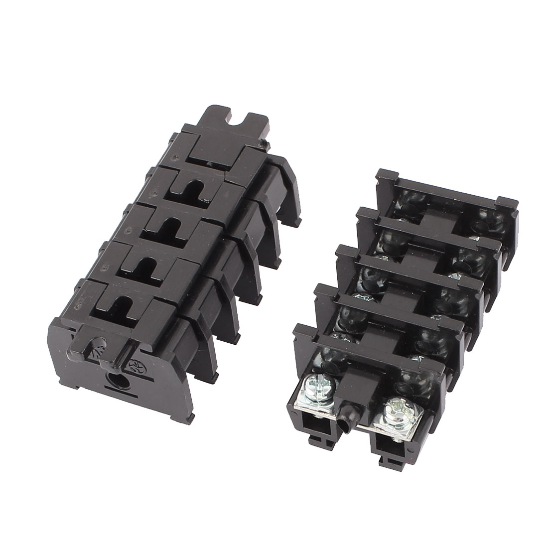 10Pcs TBC-20A 600V 20A 10 Screw Terminals Rail Mounted Block Inner Adapter Connector