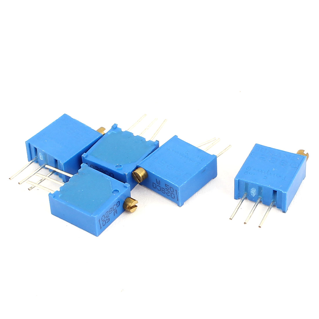 5 Pcs 3296W-501 500K Ohm Square Trimming Potentiometers