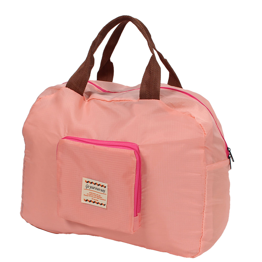 Ourdoor Travel Shopping Foldable Luggage Clothes Storage Bag Organizer Coral Pink