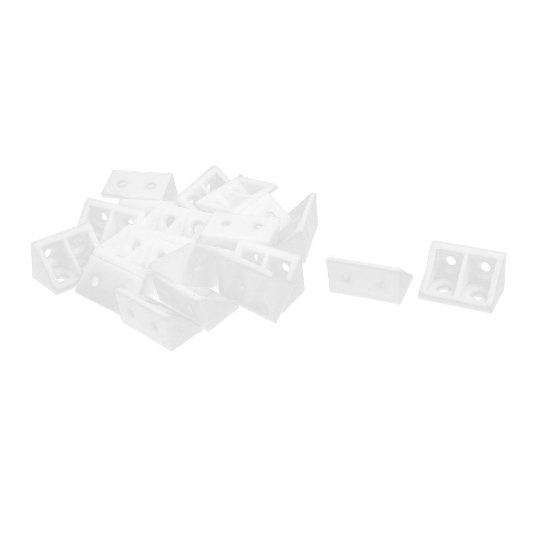 Closet Cabinet Plastic 90 Degree Angle Corner Bracket 33x20x20mm 20pcs
