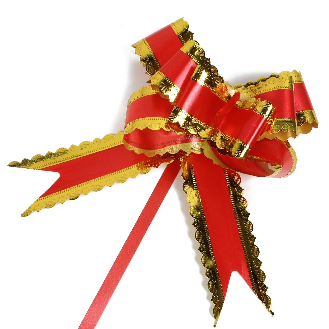 Wedding Bridal Party Gift Box Ribbon Pull Bows Decoration Red 5cm Width 10pcs