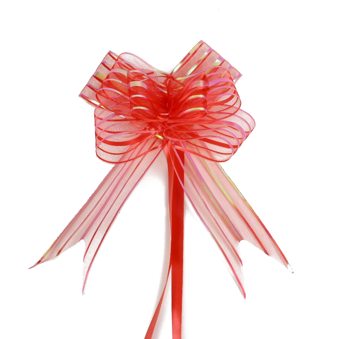 Wedding Party Gift Wrapping Ribbon Pull Bows Decoration Red 5cm Width 10pcs