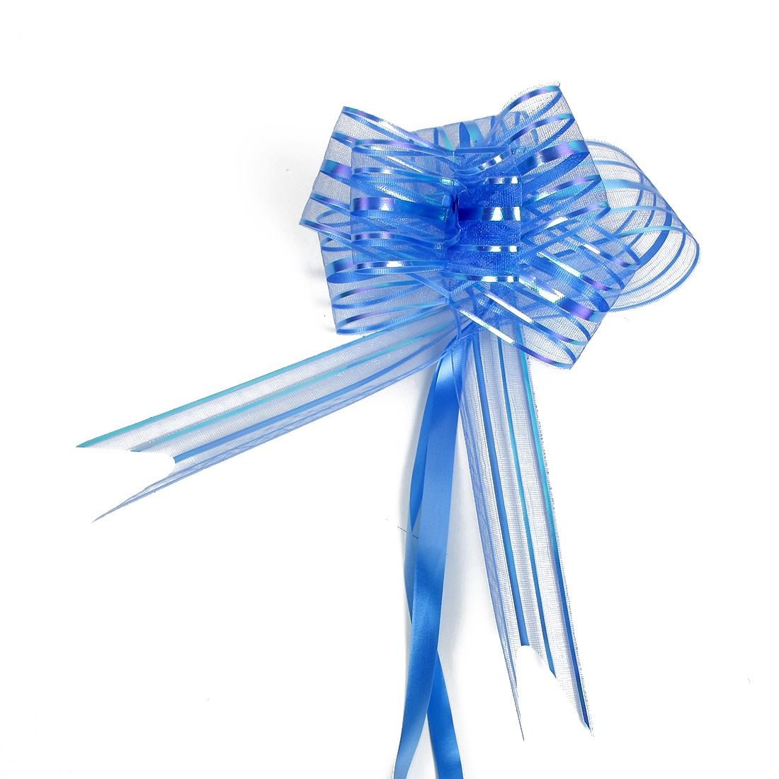 Wedding Party Gift Wrapping Ribbon Pull Bows Decoration Blue 5cm Width 10pcs
