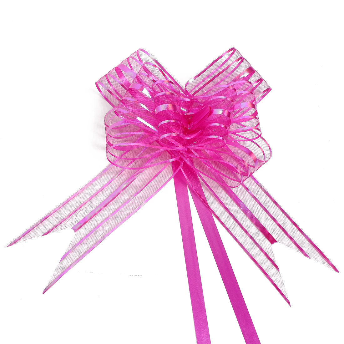 Wedding Party Gift Wrapping Ribbon Pull Bows Decoration Fuchsia 5cm Width 10pcs