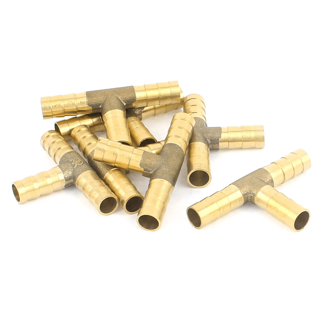 7Pcs 3 Way T-Shaped 8.5mm Tube Connector Brass Fuel Hose Barb Fittings