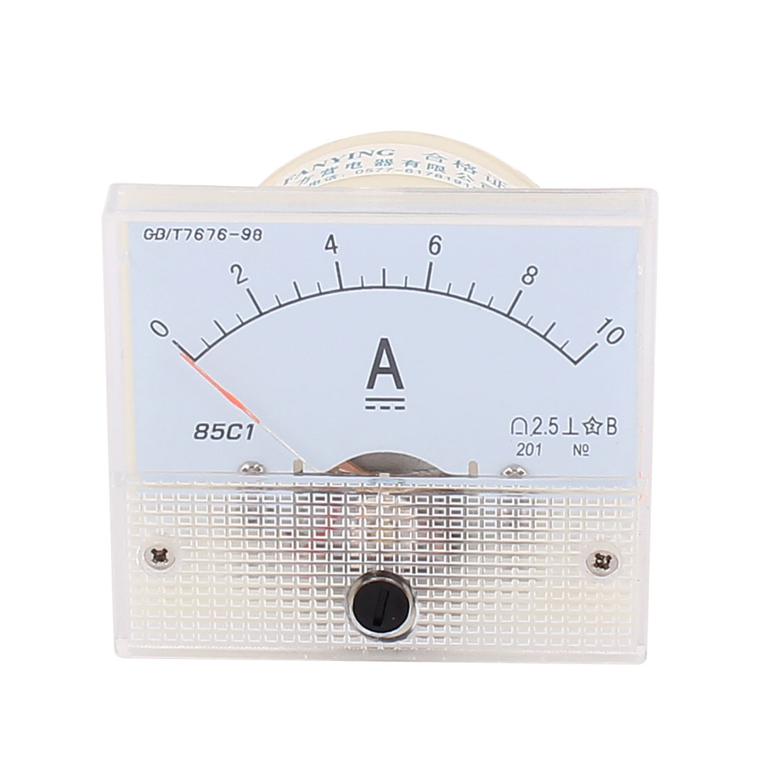 85C1 Pointer Needle DC 0-10A Current Tester Panel Analog Ammeter 64mm x 56mm