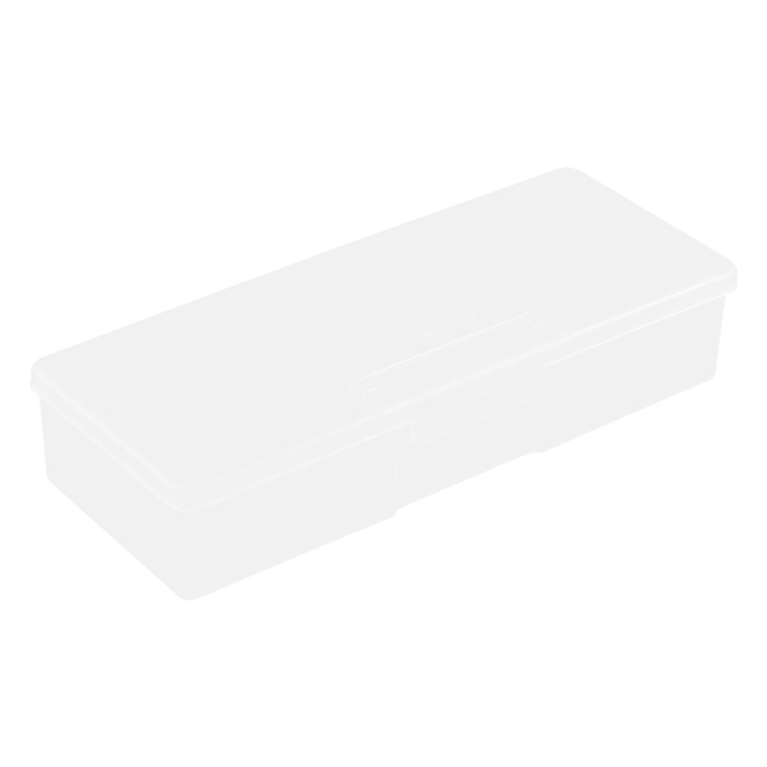 Home Plastic Rectangle Shaped Organizer Storage Box Holder Case Clear