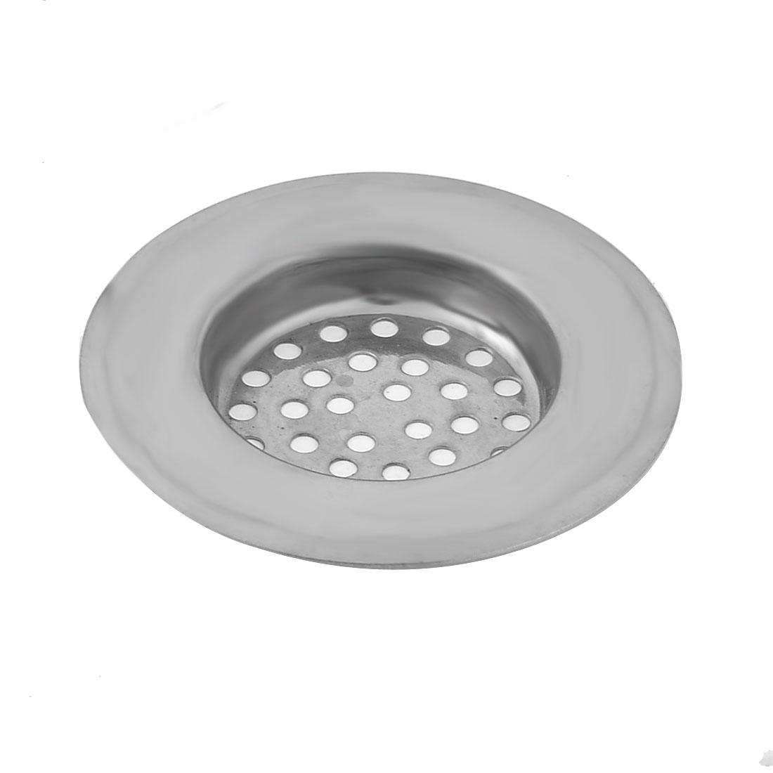 Home Bathroom Kitchen Sink Strainer Drainer Screen Filter Stopper Sliver Tone