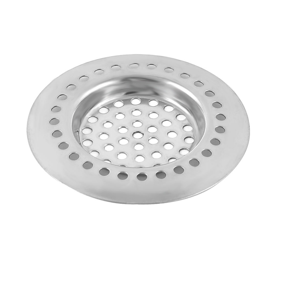 Household Kitchen Bathroom Metal Sink Drain Strainer Mesh Filter Sliver Tone