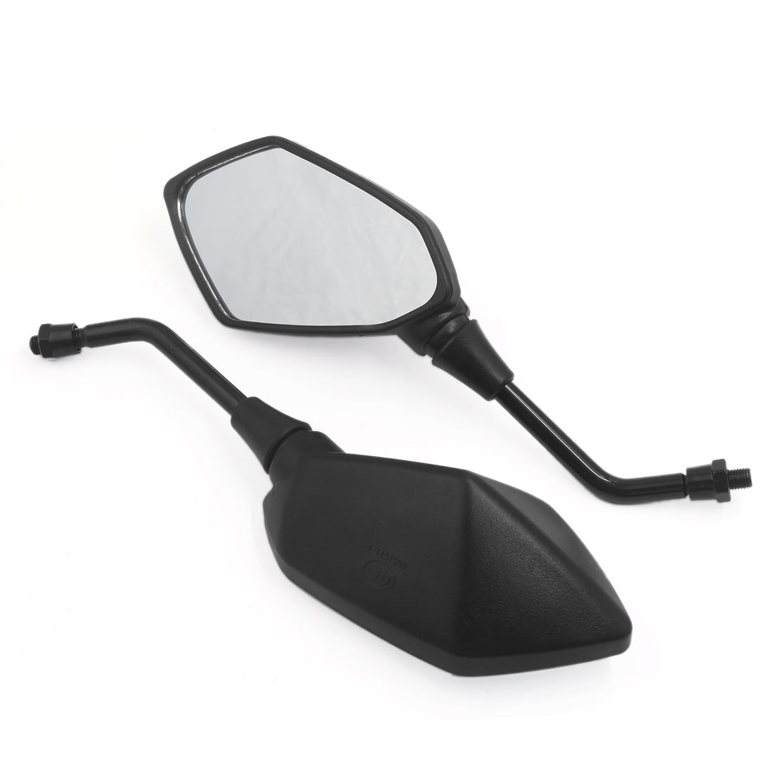 2pcs Black 10mm Motorcycle Rearview Mirrors For Cruiser Chopper Street Bike