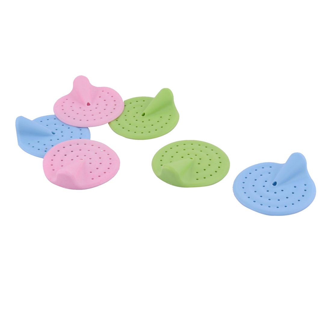Bathroom Bathtub Rubber Sink Drain Holes Disposal Strainer Hair Stopper 6 Pcs