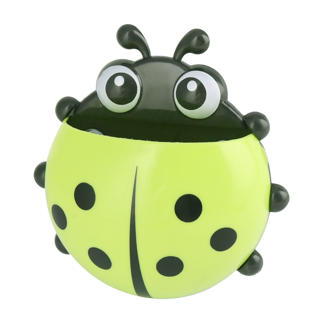 Ladybird Design Bathroom Suction-up Toothbrush Toothpaste Holder Green
