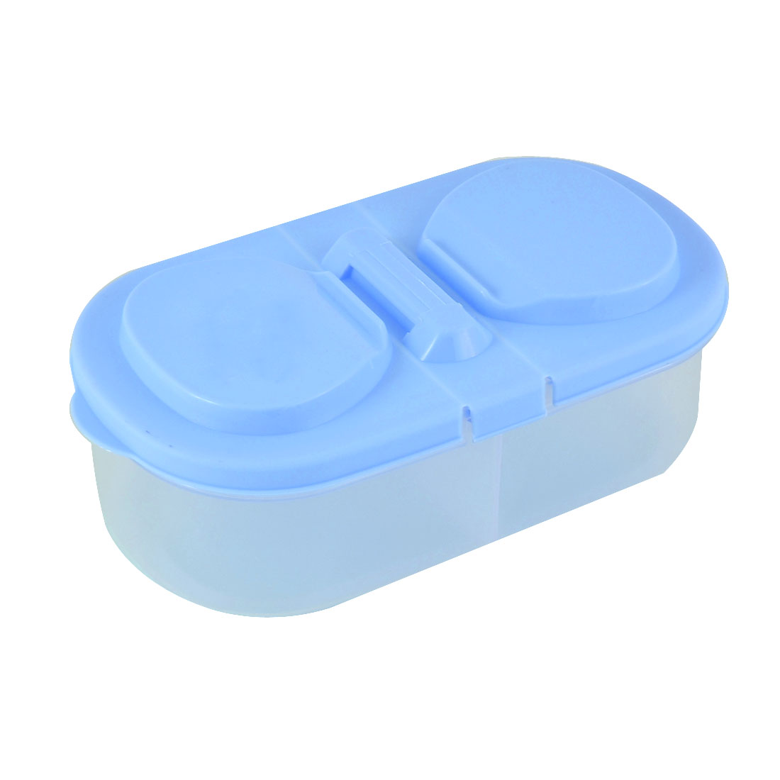 Kitchen Office Refreshing Plastic Case Holder Container Crisper Blue 18cm Long