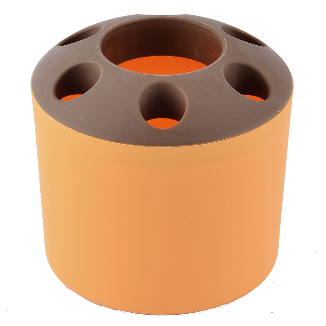 Bathroom Toothbrush Toothpaste Plastic Storage Organizer Holder Cup Orange