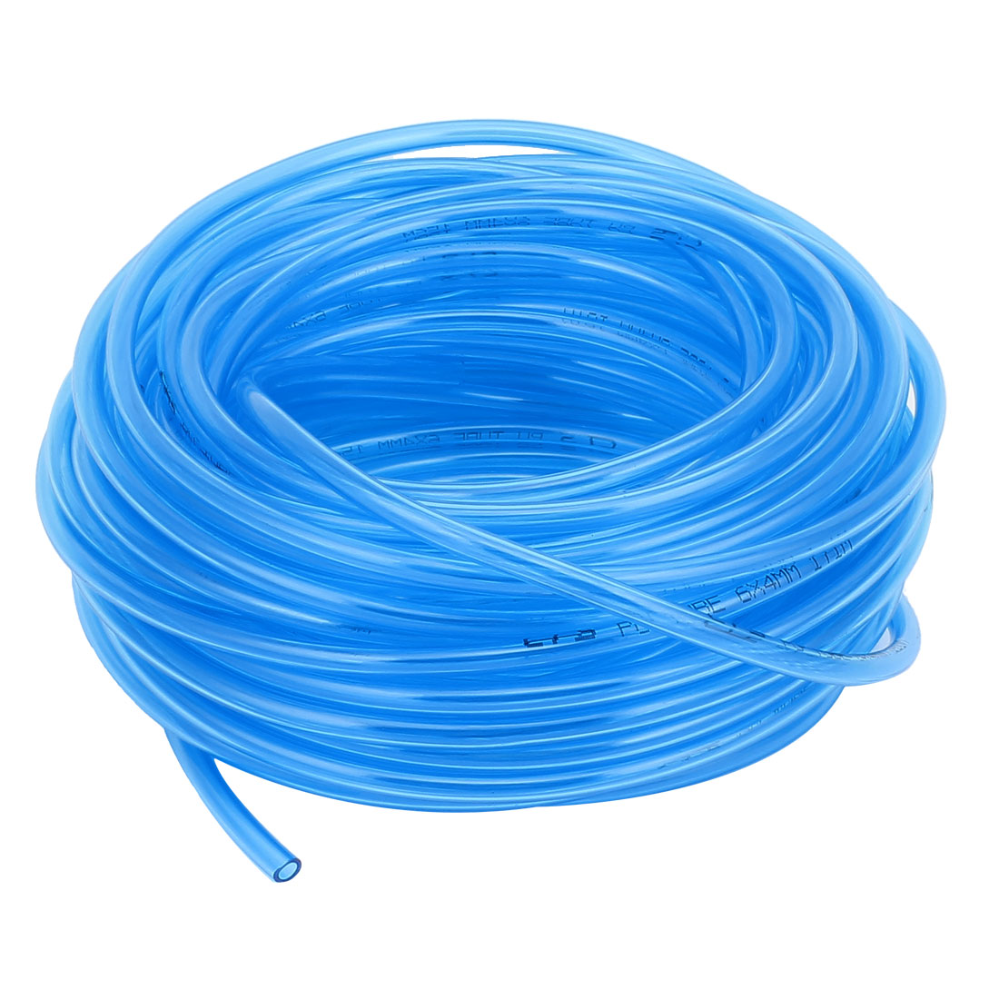 6mm OD x 4mm ID PU Pneumatic Air Tubing Pipe Hose 18 Meter 59ft Blue