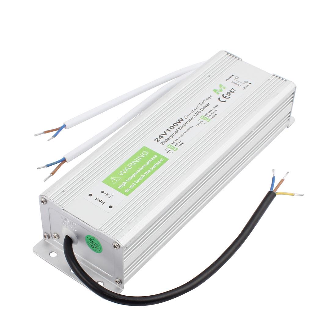 AC90~130V to DC 24V 100 Watt Transformer IP67 Waterproof LED Driver Power Supply