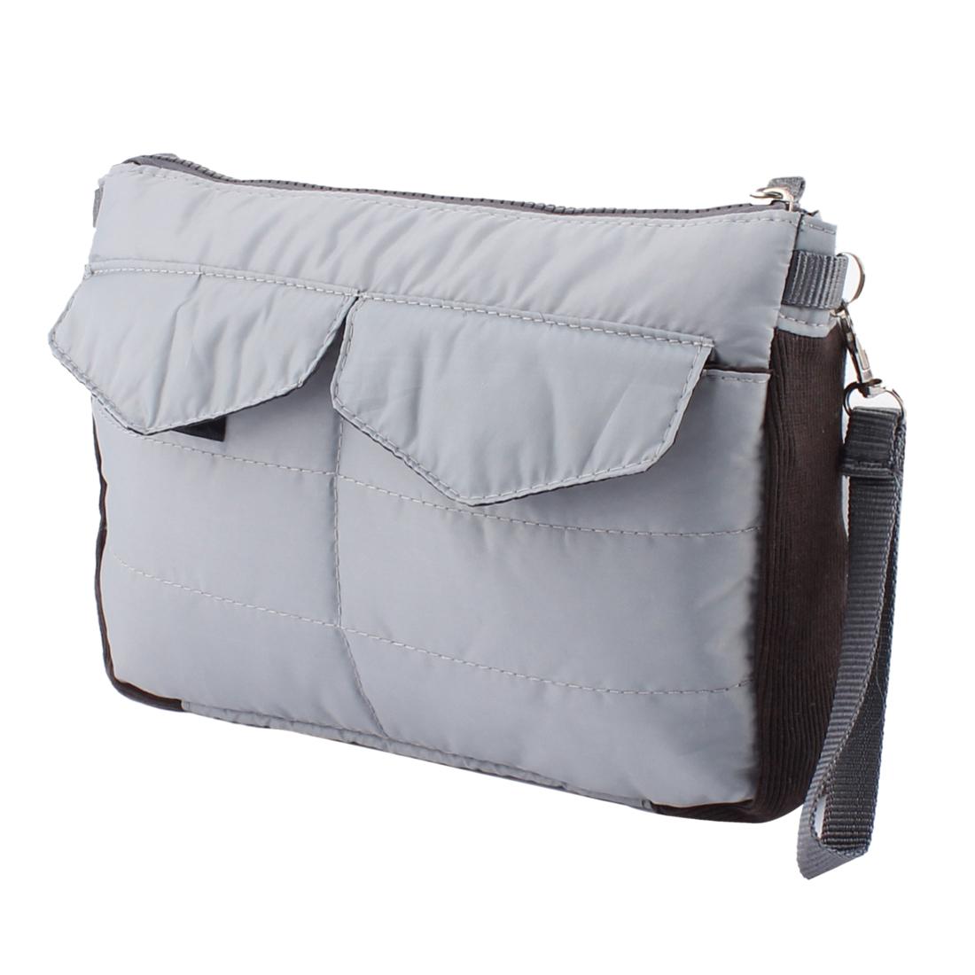 Gray Mini iPad Protective Sleeve Insert Handbag Gadget Pouch Organizer Storage Bag