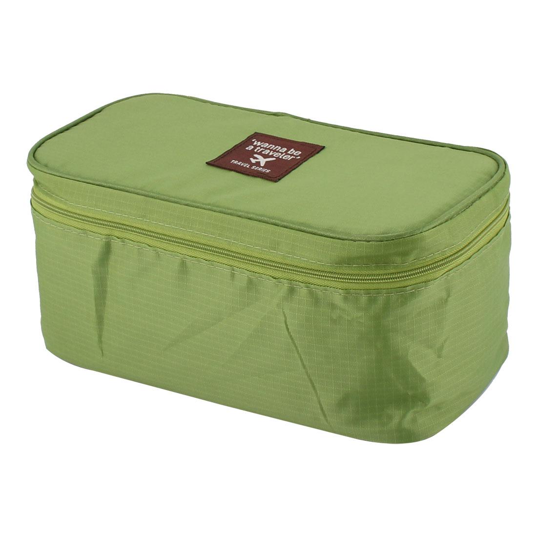 Green Portable Underwear Bra Toiletry Wash Organizer Pouch Box Storage Bag Case