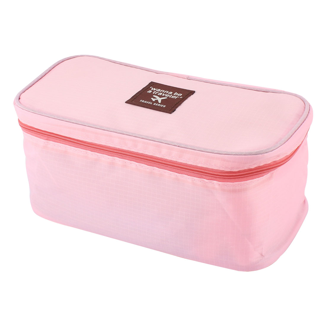 Pink Portable Underwear Bra Toiletry Wash Organizer Pouch Box Storage Bag Case
