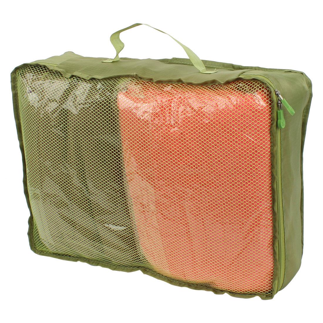 Green Portable Folding Underwear Bra Sock Clothes Organizer Storage Pouch Bag Handbag 40cm x 30cm x 13cm