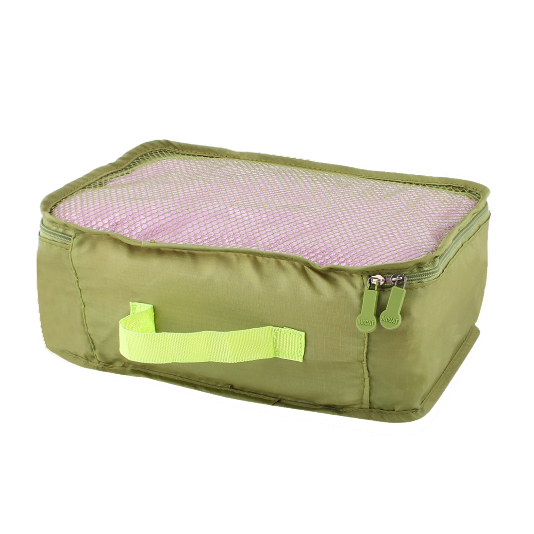 Green Portable Folding Underwear Bra Sock Clothes Organizer Storage Pouch Bag Handbag 27cm x 18cm x 12cm
