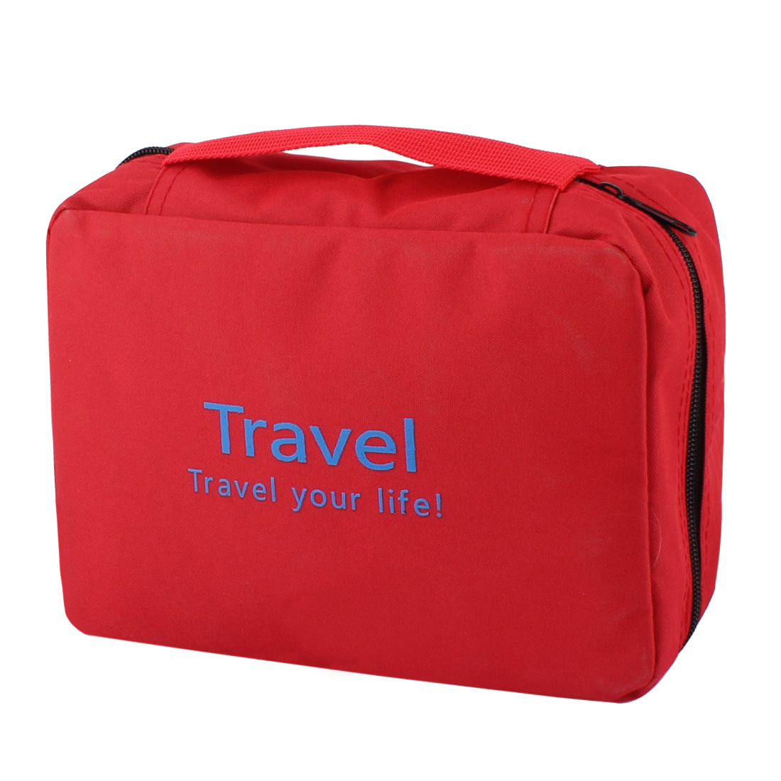 Red Portable Toiletry Cosmetic Makeup Storage Pouch Case Wash Organizer Hanging Bag