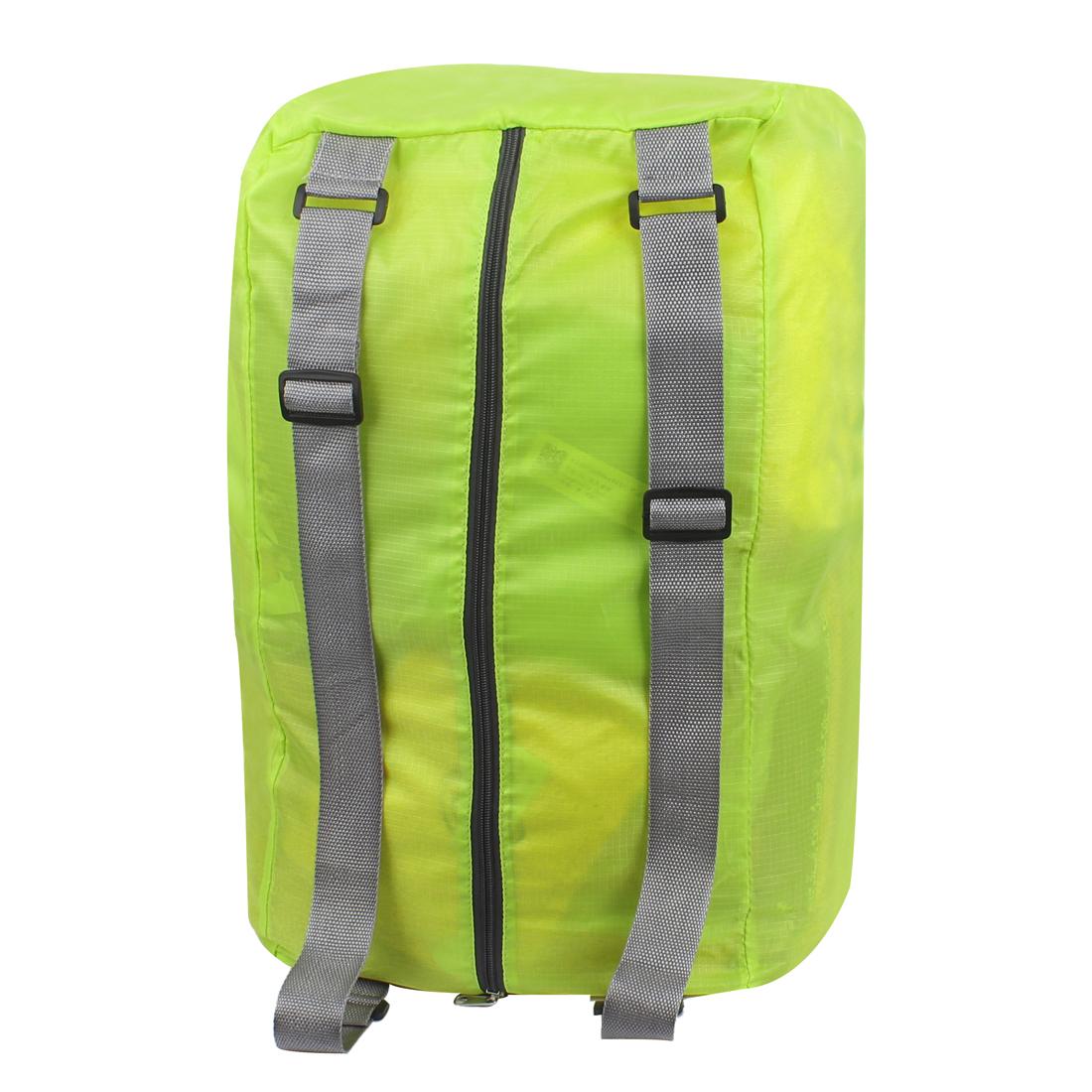 Green Water Resistant Folding Camping Hiking Bag Shoulder Cross Storage Handbag Backpack