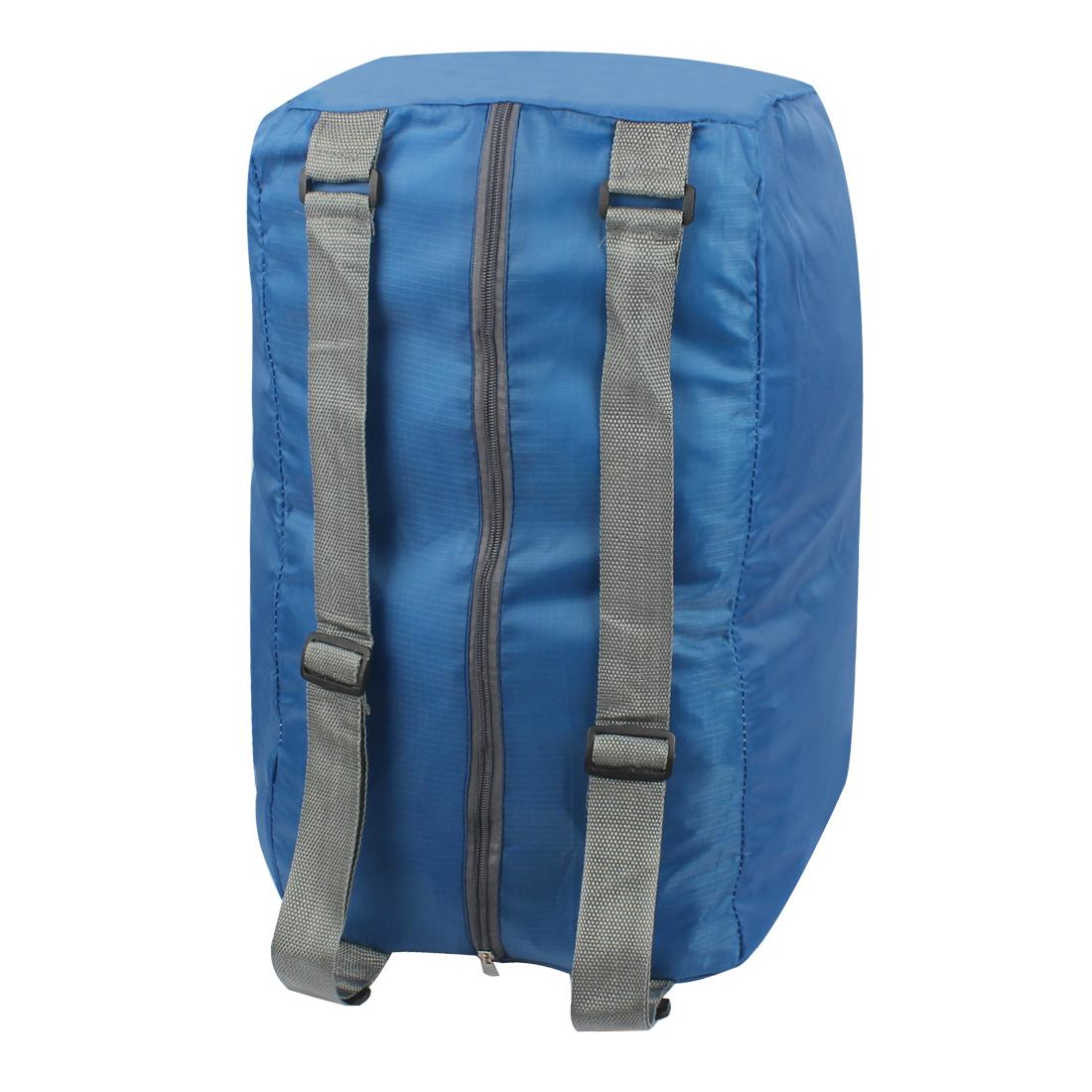 Blue Water Resistant Folding Camping Hiking Bag Shoulder Cross Storage Handbag Backpack