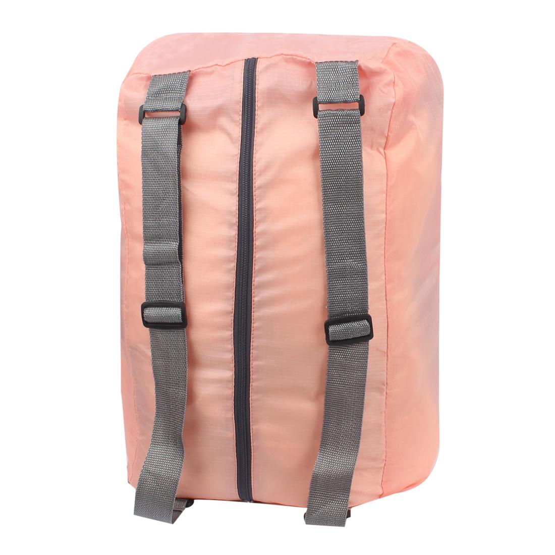 Pink Water Resistant Folding Camping Hiking Bag Shoulder Cross Storage Handbag Backpack